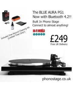 Blue Aura PG1 Turntable + Free Vinyl Cleaning Kit Offer!!
