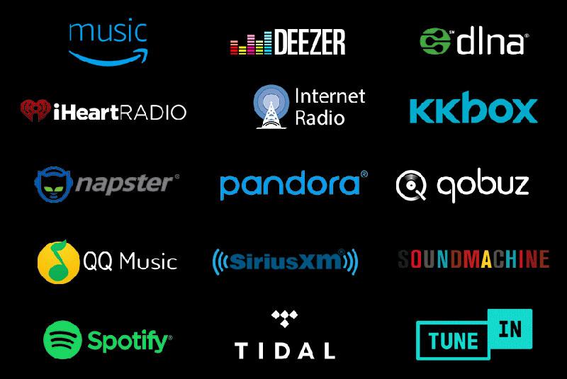 DTS Streaming logos